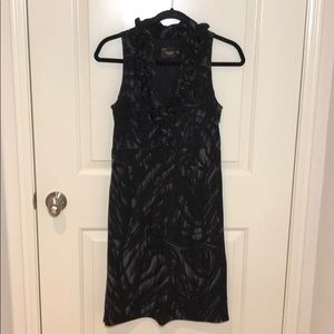 Just Taylor Ruffle V-neck Dress w/ Side Zipper